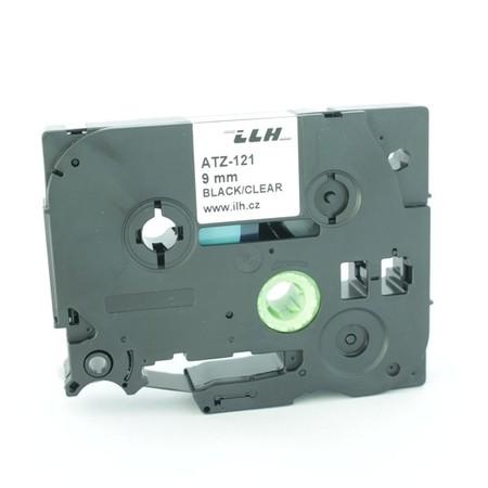 Páska ATZ-121 priehľadná/čierny tlač, 9 mm
