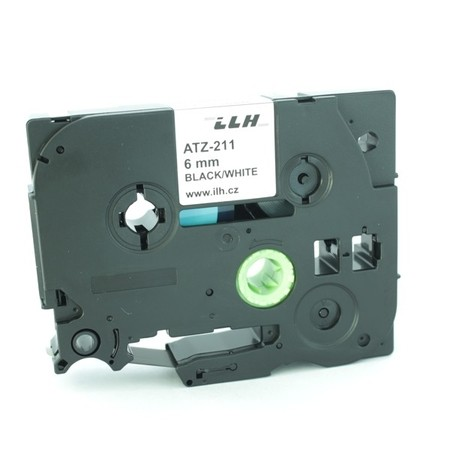Páska ATZ-211 biela/čierny tlač, 6 mm