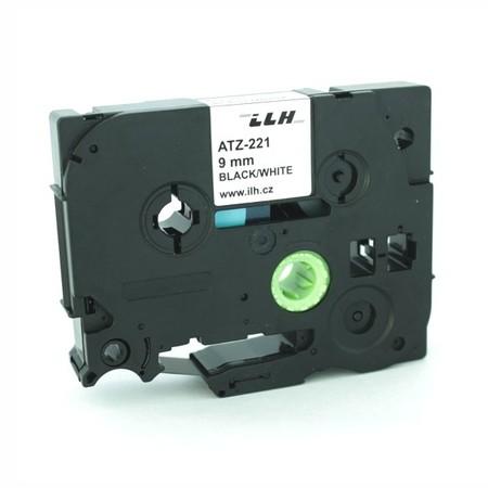 Páska ATZ-221 biela/čierny tlač, 9 mm