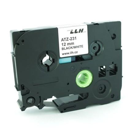 Páska ATZ-231 biela/čierny tlač, 12 mm