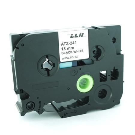 Páska ATZ-241 biela/čierny tlač, 18 mm