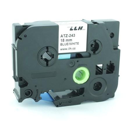 Páska ATZ-243 biela/modrý tlač, 18 mm