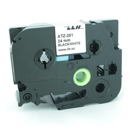 Páska ATZ-251 biela/čierny tlač, 24 mm
