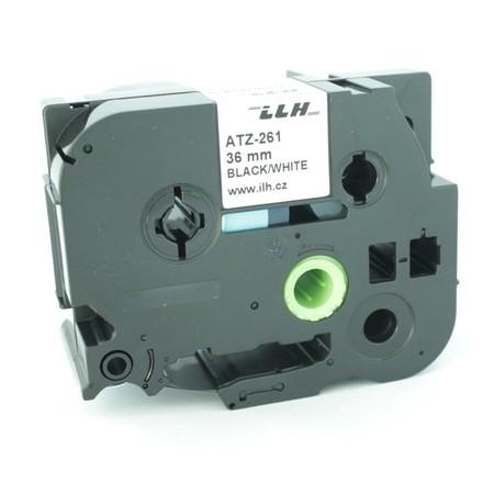 Páska ATZ-261 biela/čierny tlač, 36 mm