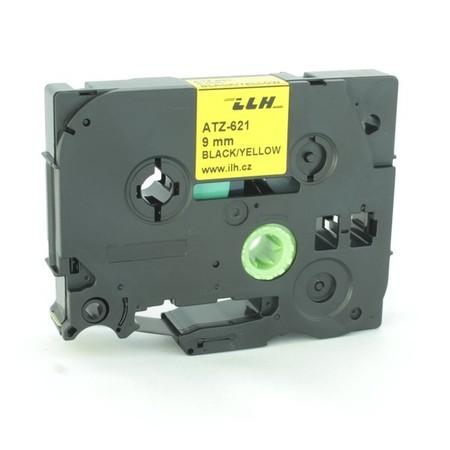 Páska ATZ-621 žltá/čierny tlač, 9 mm