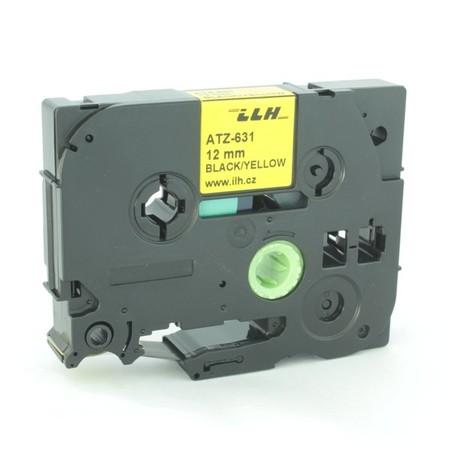 Páska ATZ-631 žltá/čierny tlač, 12 mm