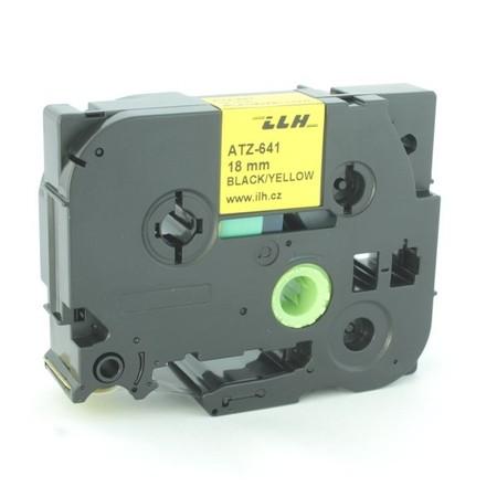 Páska ATZ-641 žltá/čierny tlač, 18 mm