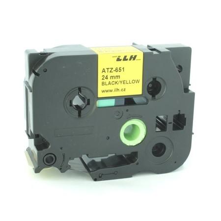 Páska ATZ-651 žltá/čierny tlač, 24 mm