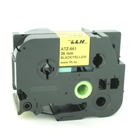 Páska ATZ-661 žltá/čierny tlač, 36 mm