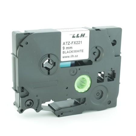 Páska ATZ-FX221 biela/čierny tlač, 9 mm, flexibilná