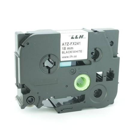Páska ATZ-FX241 biela/čierny tlač, 18 mm, flexibilná