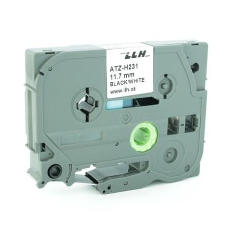 Zmršťovacia bužírka ATZ-H231 biela, 12 mm