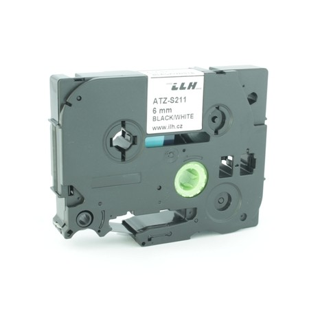 Páska ATZ-S211 biela/čierny tlač, 6 mm, silné lepidlo