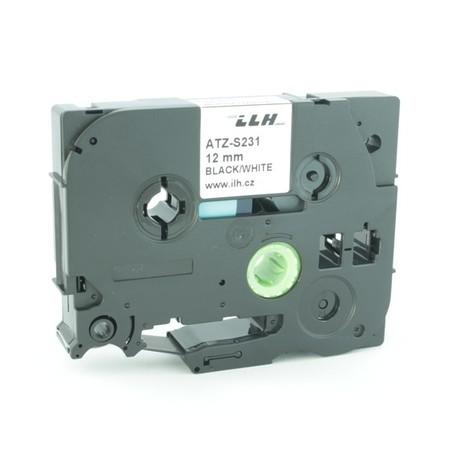 Páska ATZ-S231 biela/čierny tlač, 12 mm, silné lepidlo