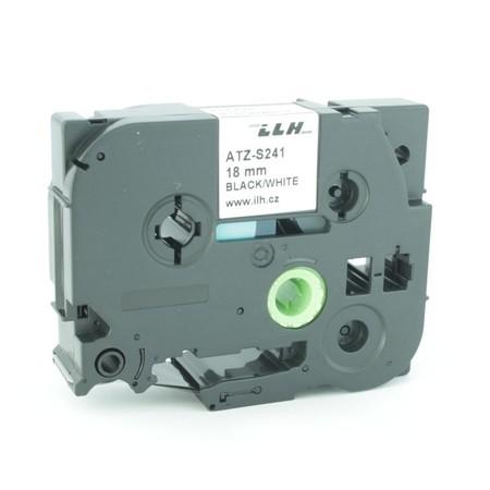 Páska ATZ-S241 biela/čierny tlač, 18 mm, silné lepidlo