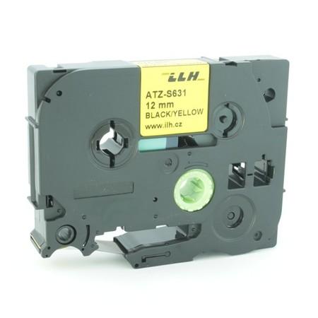 Páska ATZ-S631 žltá/čierny tlač, 12 mm, silné lepidlo
