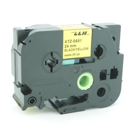 Páska ATZ-S651 žltá/čierny tlač, 24 mm, silné lepidlo
