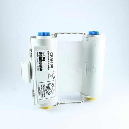 Farbiaca páska CPMR41-RC biela s kazetou
