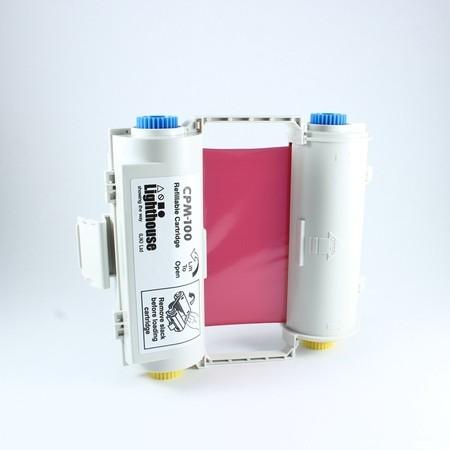 Farbiaca páska CPMR42-RC červená s kazetou