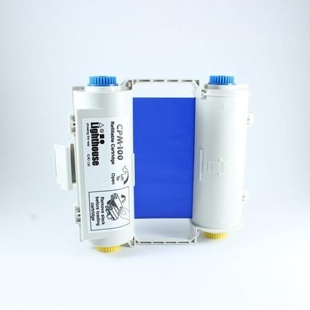 Farbiaca páska CPMR43-RC modrá s kazetou