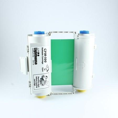 Farbiaca páska CPMR44-RC zelená s kazetou