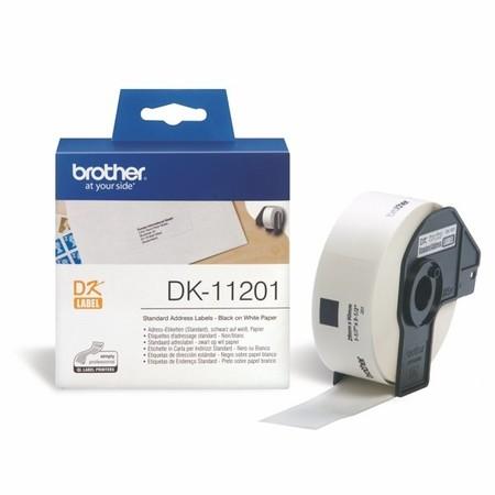 Papierové štítky Brother DK11201, 29x90 mm, 400 ks