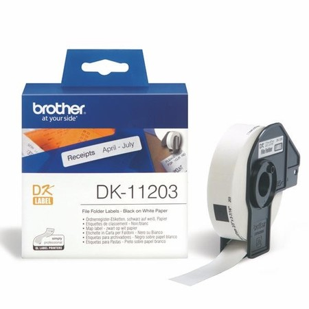 Papierové štítky Brother DK11203, 17x87 mm, 300 ks