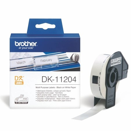 Papierové štítky Brother DK11204, 17x54 mm, 400 ks