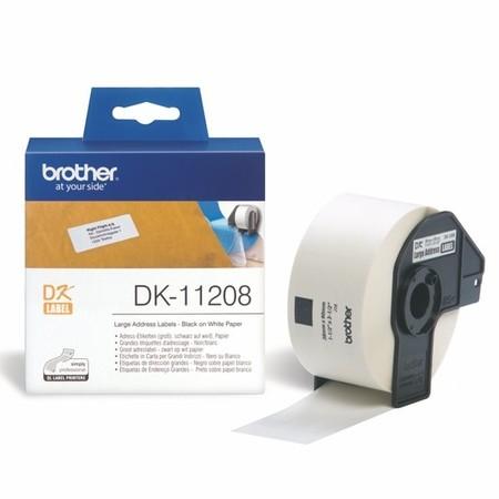 Papierové štítky Brother DK11208, 38x90 mm, 400 ks