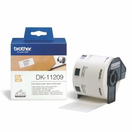 Papierové štítky Brother DK11209, 62x29 mm, 800 ks