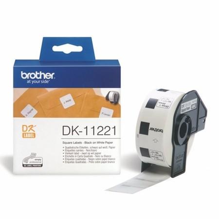 Papierové štítky Brother DK11221, 23x23 mm, 1000 ks