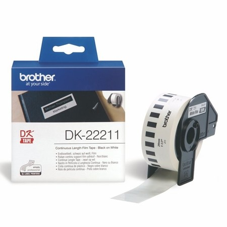 Filmová rolka Brother DK22211 biela, šírka 29 mm