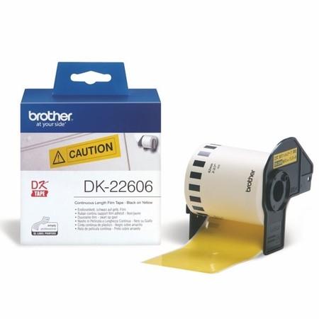 Filmová rolka Brother DK22606 žltá, šírka 62 mm