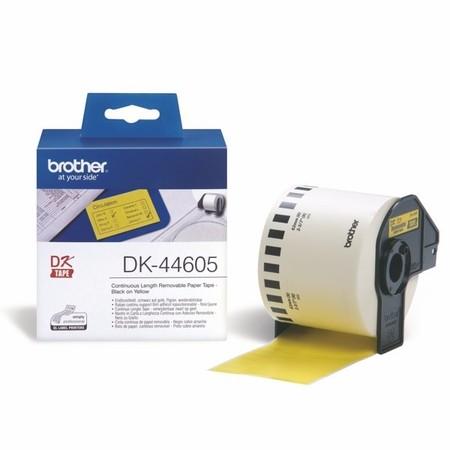 Papierová rolka Brother DK44605 žltá, šírka 62 mm, znížená priľnavosť
