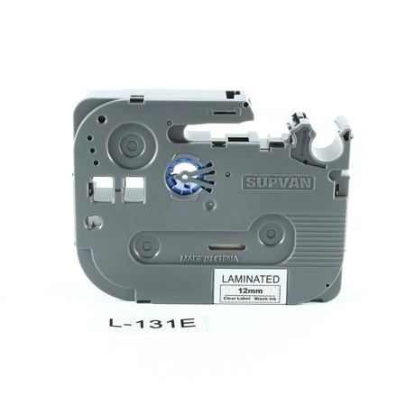 Páska Supvan L-131E priehľadná/čierny tlač, 12 mm