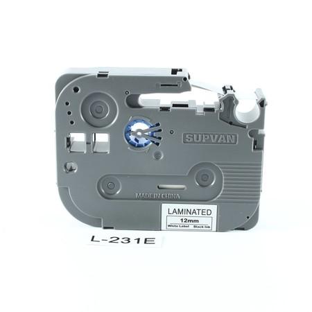 Páska Supvan L-231E biela/čierny tlač, 12 mm