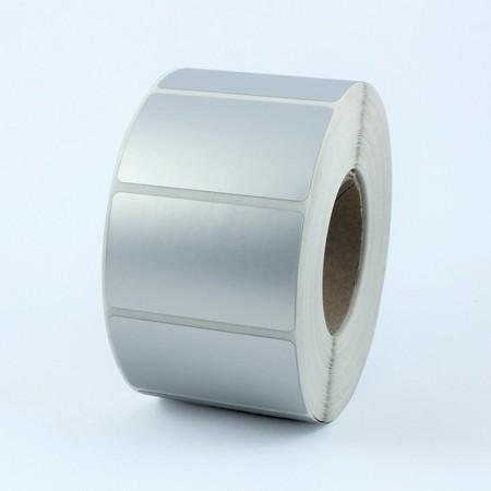 Plastové štítky 41x33 mm strieborné, 1000 ks