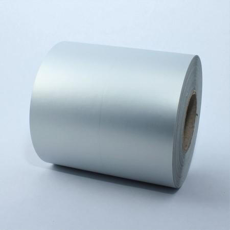 Plastová rolka 70 mm strieborna, 80 m