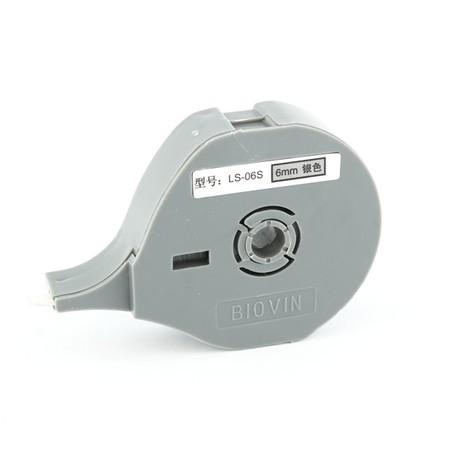Štítková páska LS-06S strieborná, 6 mm x 8 m