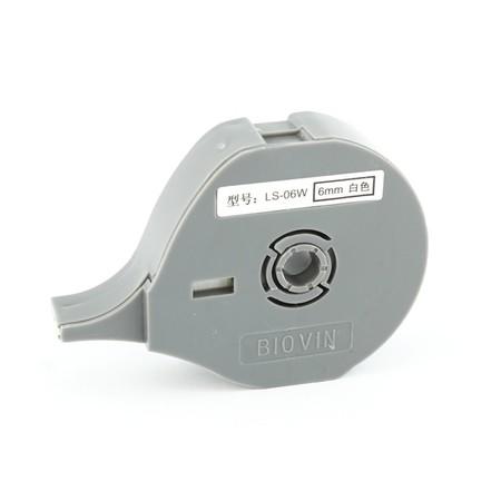 Štítková páska LS-06W biela, 6 mm x 8 m