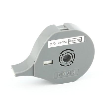 Štítková páska LS-12W biela, 12 mm x 8 m