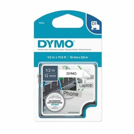 Páska Dymo S0718040 biela/čierny tlač, 12 mm, flexibilná nylonová