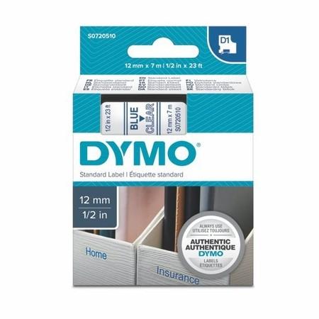Páska Dymo S0720510 priehľadná/modrý tlač, 12 mm