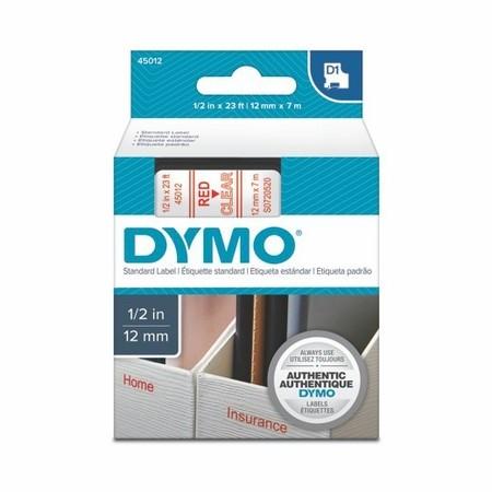 Páska Dymo S0720520 priehľadná/červený tlač, 12 mm
