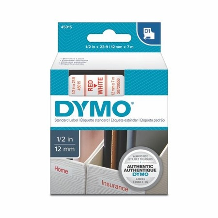 Páska Dymo S0720550 biela/červený tlač, 12 mm