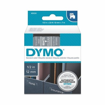 Páska Dymo S0720600 priehľadná/biely tlač, 12 mm