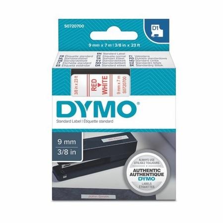 Páska Dymo S0720700 biela/červený tlač, 9 mm