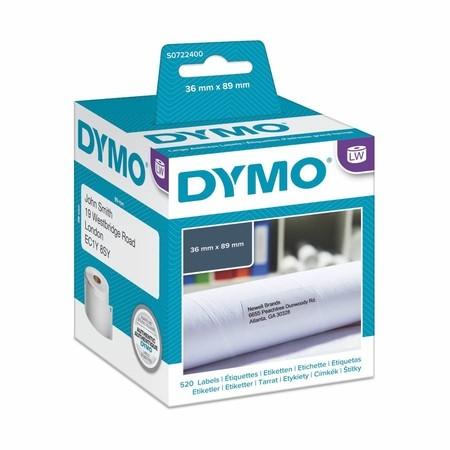 Papierové štítky Dymo S0722400, 89x36 mm, 2x260 ks