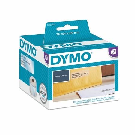 Plastové priesvitné štítky Dymo S0722410, 89x36 mm, 260 ks