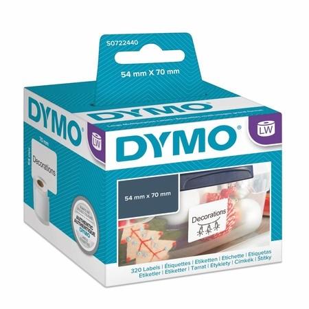 Papierové štítky Dymo S0722440, 70x54 mm, 320 ks